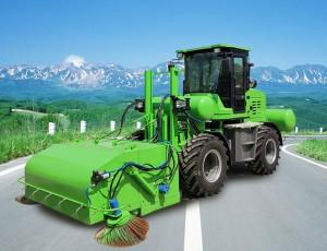 道路清扫车转速随发动机转速不断变化