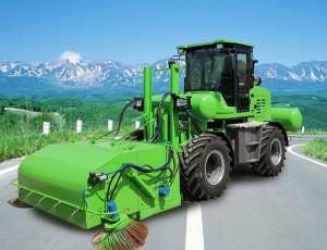 马路清扫车开启多功能道路养护模式